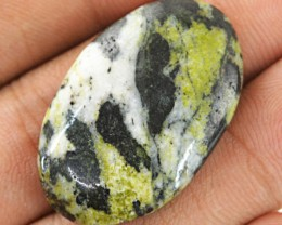 Genuine 41.20 Cts Forest Green Jasper Untreated Cab