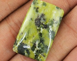 Genuine 28.35 Cts Forest Green Jasper Untreated Cab
