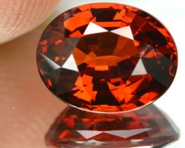 4.71 Cts Natural Spessartine Garnet Oval Namibia