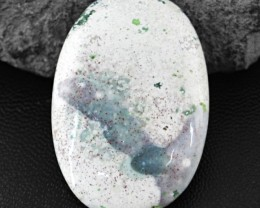 Genuine 55.95 Cts Oval Shape Ocean Jasper Cab