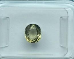 Yellow-Green Tourmaline - 1.12 ct - IGI certified - FLAWLESS