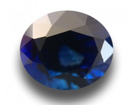 1.57 CTS Natural Deep Royal Blue Sapphire |Loose Gemstone|New| Sri Lanka