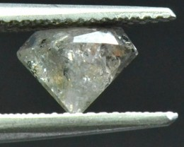 1.04ct salt and pepper hexagon irregular diamond