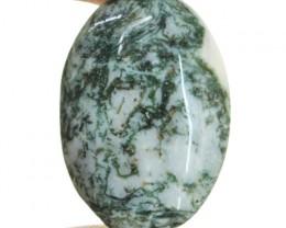 Genuine 36.75 Cts Tree Agate Oval Shape Cab