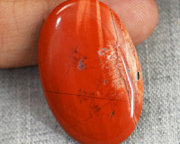 Genuine 27.10 Cts Oval Shape Red Jasper Cab