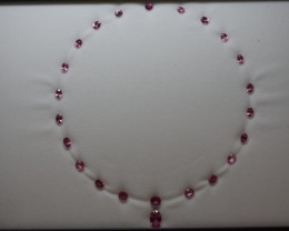 35 Carat PINK SPINEL Necklace layout