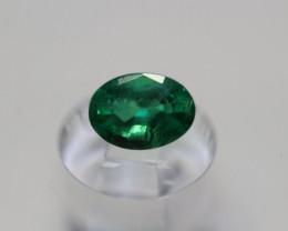 0.85 carat deep Green Zambian Emerald