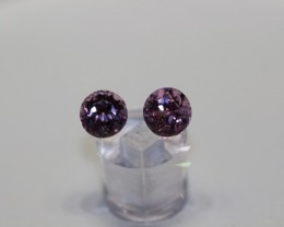 STUNNING UNTREATED PINK SPINEL PAIR 1.85 CARATS