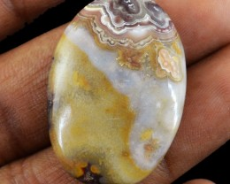 Genuine 29.85 Cts Crazy Lace Agate Oval Shape Cab