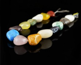 Genuine 757.00 Cts Multi Gemstones Beads Strand
