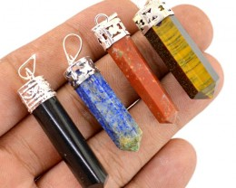Genuine 24.20 Gms Untreated Healing Point Pendant Lot