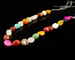 Genuine 295.00 Cts Multi Gemstones Beads Strand