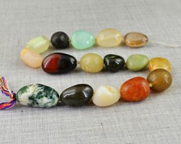 Genuine 509.00 Cts Multi Gemstones Beads Strand