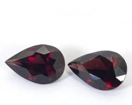 9.55ct TW Garnet Pear Cut Pair
