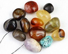 Genuine 327.00 Cts Untreated Multi Gemstones Drilled Beads Lot