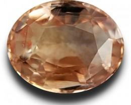 1.61 CTS Natural Pinkish yellow sapphire |Loose Gemstone|Certified| Sri Lan