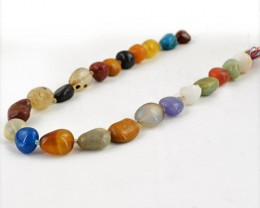 Genuine 296.50 Cts Multi Gemstones Drilled Untreated Beads Strand