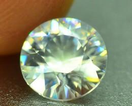 Diamond Like Luster Certified 1.35 ct Natural White Zircon Combodia PR.2