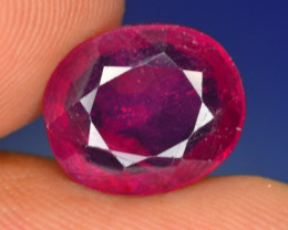 5.65 CT NATURAL AFRICAN RUBY GEMSTONE