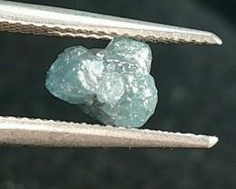 1.84ct 6.75mm BLUE DIAMOND rough gemstone 6.75 by 6 by 5mm