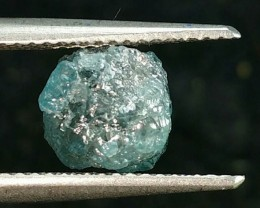 2.63ct 7.5mm BLUE DIAMOND rough gemstone cabochon 7.5 by 7.5 by 4.5mm