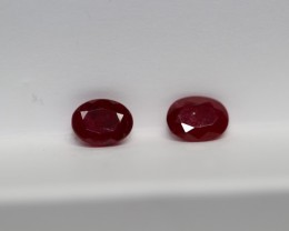 AMAZING UN-TREATED RUBY PAIR 1.78 CARATS
