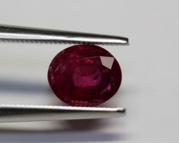 2.28 carats GIA CERTIFIED AMAZING PURE RED UN-TREATED RUBY