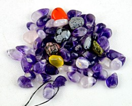 Genuine 198.85 Cts Purple Amethyst Drilled Beads Lot