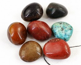 Genuine 163.00 Cts Multi Gemstones Drilled Beads Lot