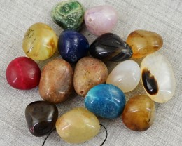 Genuine 527.00 Cts Untreated Multi Gemstones Drilled Beads Lot