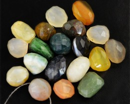 Genuine 398.00 Cts Faceted Multi Gemstones Drilled Beads Lot