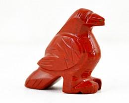 Genuine 42.45 Cts Red Jasper Artisan Carved Bird
