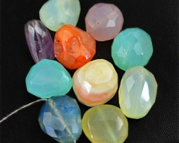 Genuine 344.50 Cts Multi Gemstones Faceted Drilled Beads Lot
