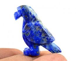 Genuine 38.55 Cts Blue Lapis Lazuli Carved Bird