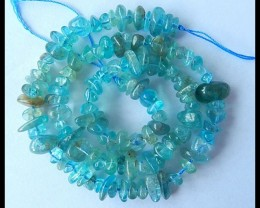 Natural Blue Apatite Freeform Loose Beads,7x5x2mm,12x7x6mm,169ct(17040807)