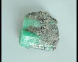 Natural Nugget Emerald Specimen,Heated Treatment27x24x13mm,60.5ct(17040811)