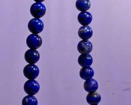 190 CT Natural lapis lazuli carved beeds lot