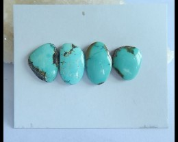 Natural Turquoise Cabochon Set,18x11x4mm,15x12x4mm,25ct(17040902)