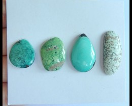 Sell 4pcs Natural Turquoise Freeform Cabochons,23x9x4mm,14x13x3mm,25.5ct(17
