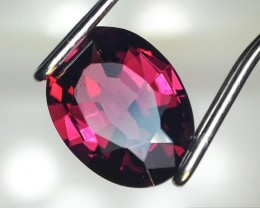 1.33 Carat Oval Cut Purplish Red Rhodolite Garnet