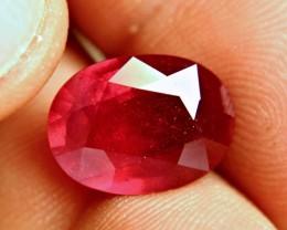 8.58 Carat Vibrant, Fiery Ruby - Gorgeous
