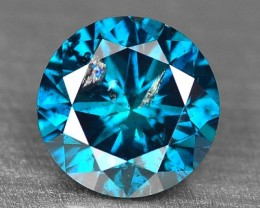 0.44 Cts Natural Blue Diamond Round Africa
