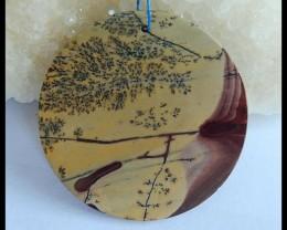 Natural Chohua Jasper Round Pendant Bead,47x2mm,46ct(17041013)