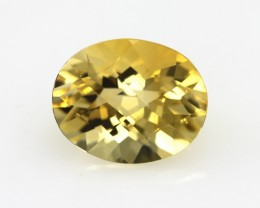 3.03cts Golden Yellow Citrine Oval Checker Board Shape