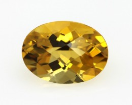 3.32cts Golden Yellow Citrine Oval Checker Board Shape