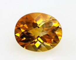 3.28cts Golden Yellow Citrine Oval Checker Board Shape