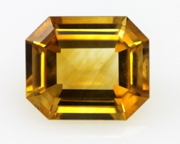 9.61cts Golden Yellow Citrine Emerald Cut