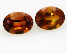 6.43cts Madiera Color Citrine Matching Ovals