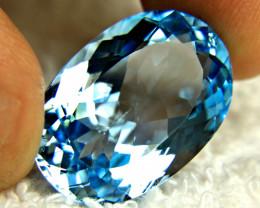 35.45 Carat Vibrant Blue Brazil VVS Topaz - Gorgeous