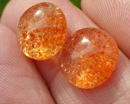 8.50ct 11 by 5mm Pair sunstone cabochon